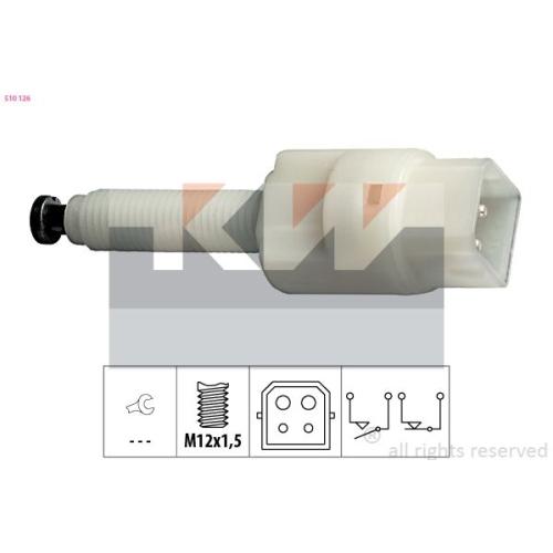 Brake Light Switch KW 510 126 Made in Italy - OE Equivalent AUDI SKODA VW