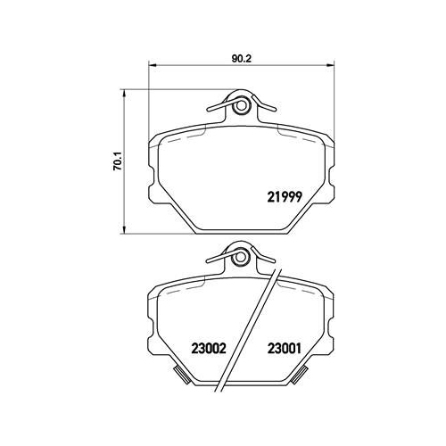 Brake Pad Set, disc brake BREMBO P 50 038 CHRYSLER MERCEDES-BENZ SMART
