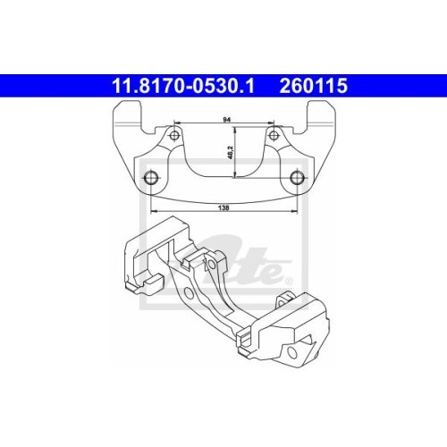 Carrier, brake caliper ATE 11.8170-0530.1 BMW ROVER
