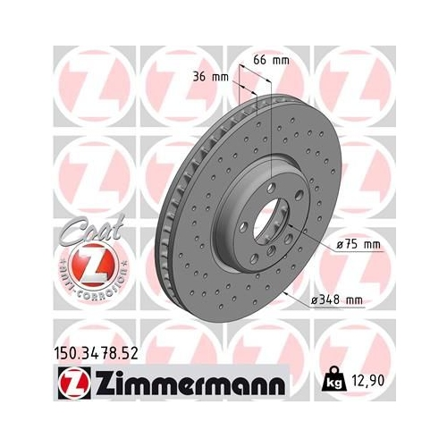 ZIMMERMANN Brake Disc 150.3478.52