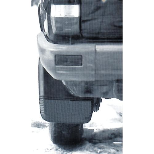 SCHOENEK 400950 mud flaps rear wheel, 2-part, gray / black