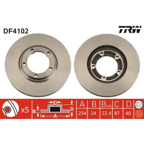 TRW Brake Disc DF4102