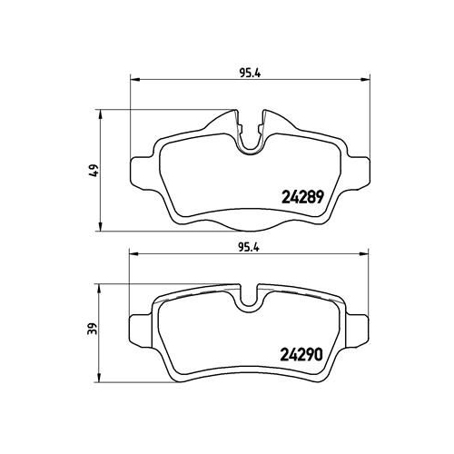 Brake Pad Set, disc brake BREMBO P 06 052 BMW MINI