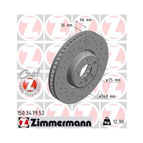 ZIMMERMANN Brake Disc 150.3479.52