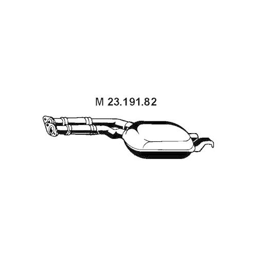 Middle Silencer EBERSPÄCHER 23.191.82 MERCEDES-BENZ
