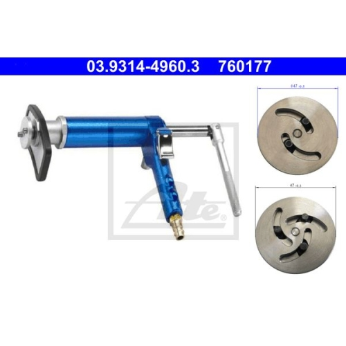 Dreh-/Rückstellwerkzeugsatz, Bremssattelkolben ATE 03.9314-4960.3
