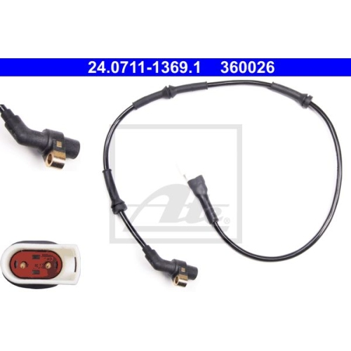 Sensor, Raddrehzahl ATE 24.0711-1369.1 FORD