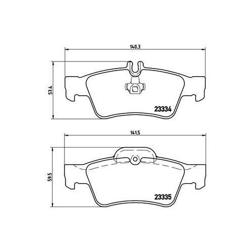 Brake Pad Set, disc brake BREMBO P 50 052 MERCEDES-BENZ