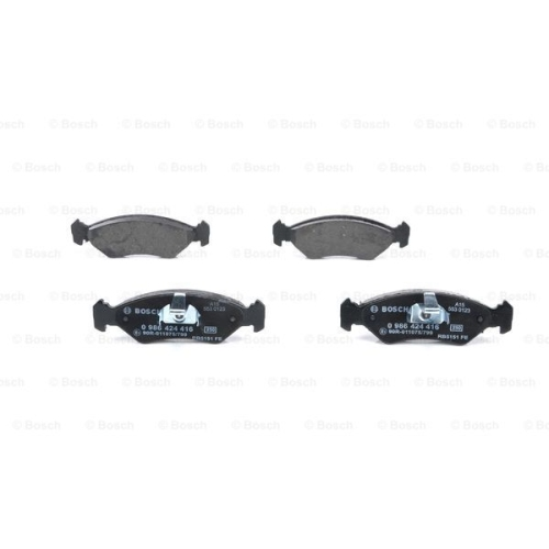 Brake Pad Set, disc brake BOSCH 0 986 424 416 FORD MAZDA