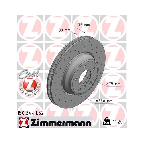 ZIMMERMANN Brake Disc 150.3441.52