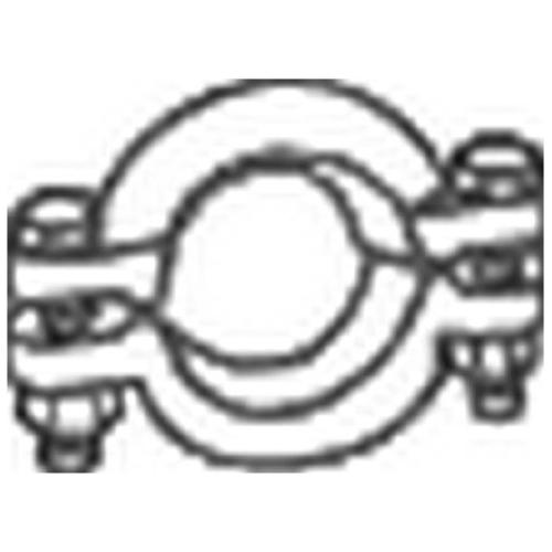 Klemmstück, Abgasanlage BOSAL 254-702 MERCEDES-BENZ VOLVO