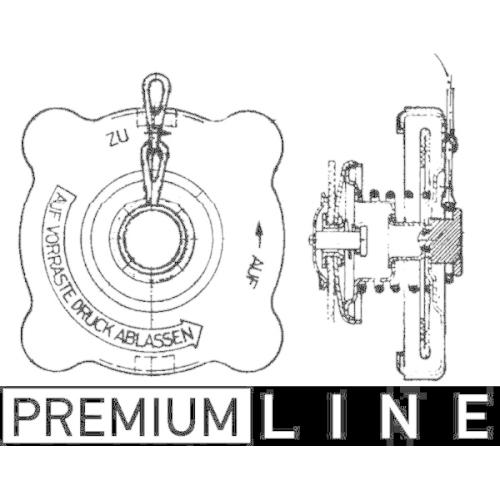 Sealing Cap, radiator MAHLE CRB 18 000P BEHR *** PREMIUM LINE *** MAN BOVA