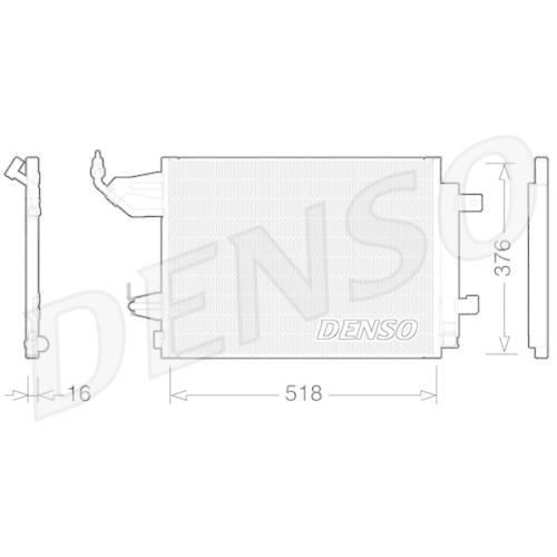 Kondensator, Klimaanlage DENSO DCN16001 MITSUBISHI SMART