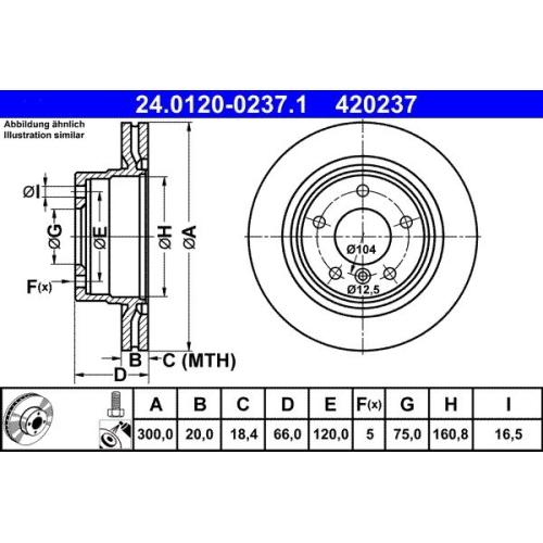 ATE Bremsscheibe 24.0120-0237.1