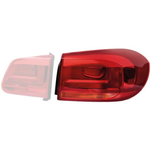 Combination Rearlight HELLA 2SD 010 738-091 VW