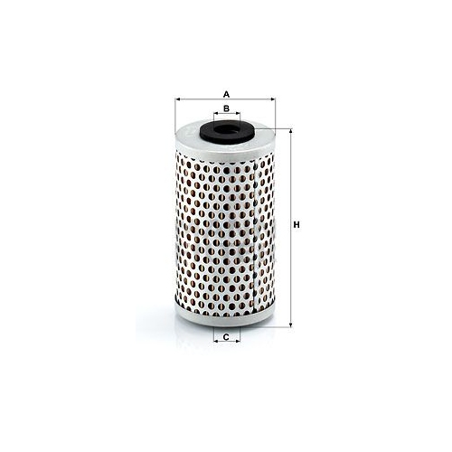 Hydraulikfilter, Lenkung MANN-FILTER H 601/6 HANOMAG HENSCHEL MERCEDES-BENZ