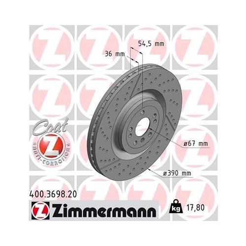 ZIMMERMANN Brake Disc 400.3698.20