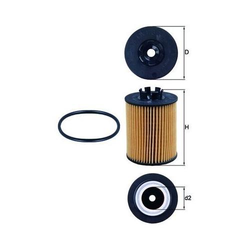 Oil Filter MAHLE OX 173/2D GMC OPEL PEUGEOT SUZUKI VAUXHALL GENERAL MOTORS