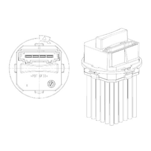 Regulator, passenger compartment fan MAHLE ABR 21 000P BEHR *** PREMIUM LINE ***
