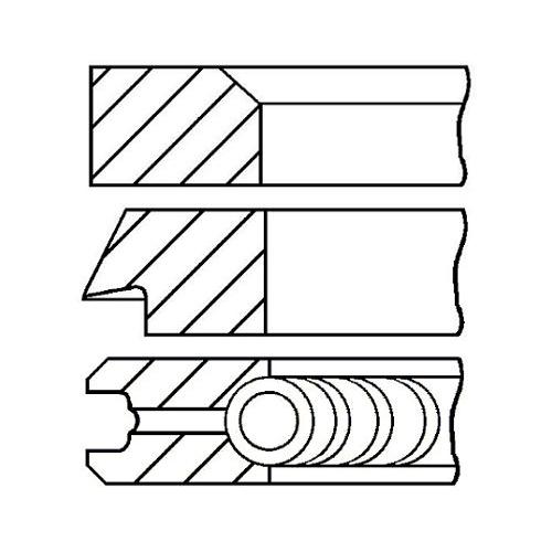 Piston Ring Kit GOETZE ENGINE 08-427700-00
