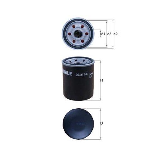 Oil Filter MAHLE OC 217/6 FIAT SUBARU SUZUKI TOYOTA