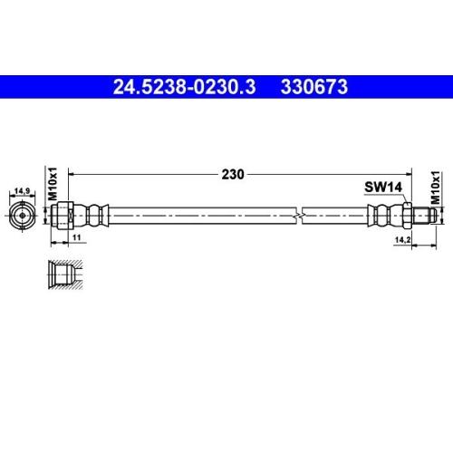 ATE Brake Hose 24.5238-0230.3