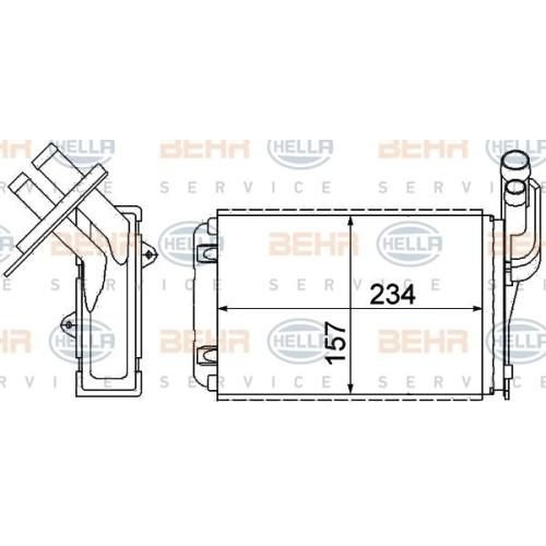 Wärmetauscher, Innenraumheizung HELLA 8FH 351 311-631 RENAULT RENAULT TRUCKS
