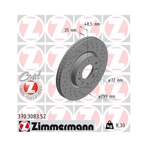 ZIMMERMANN Brake Disc 370.3083.52