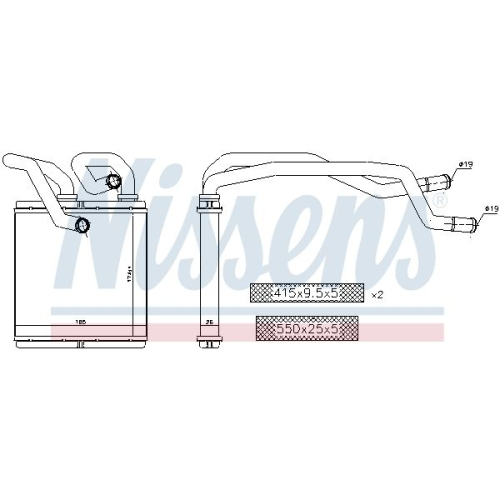 Heat Exchanger, interior heating NISSENS 72216 NISSAN