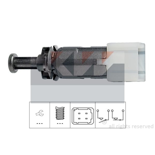 Brake Light Switch KW 510 149 Made in Italy - OE Equivalent MITSUBISHI NISSAN