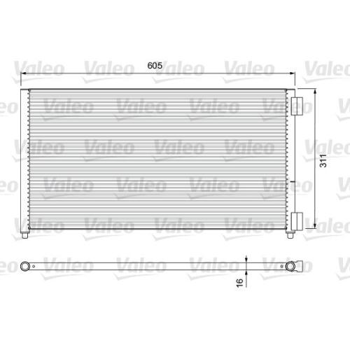 Condenser, air conditioning VALEO 817799 RENAULT