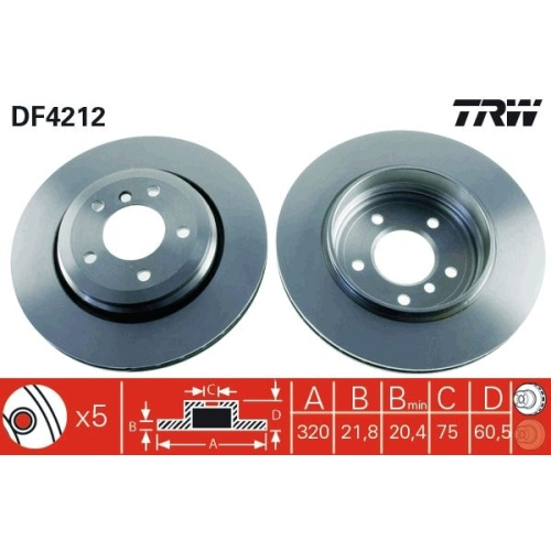 Brake Disc TRW DF4212 BMW