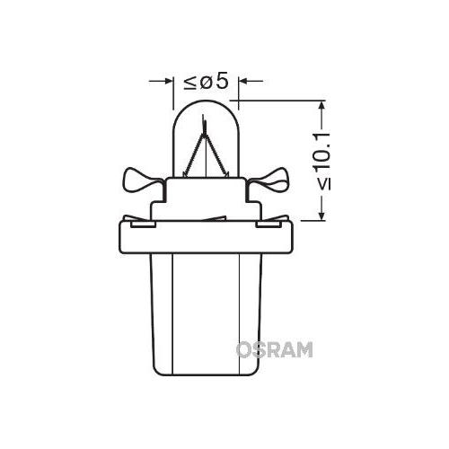 Bulb, instrument lighting OSRAM 2741MF ORIGINAL