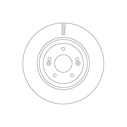 Brake Disc TRW DF7592 HYUNDAI KIA