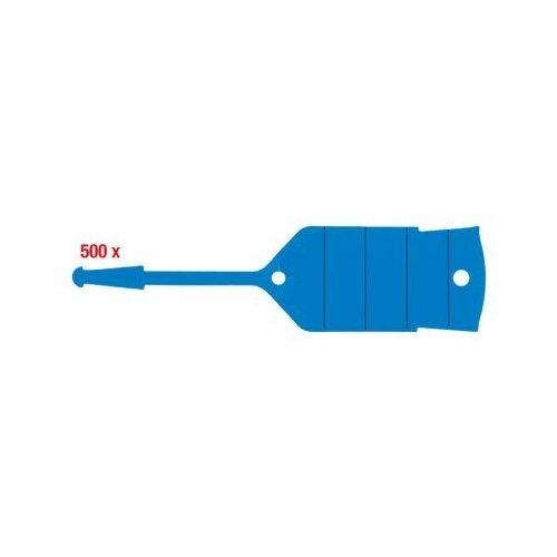 KS TOOLS Schlüsselanhänger mit Schlaufe, blau, 500 Stück 500.8094