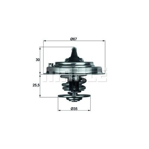 BEHR THERMOT-TRONIK Thermostat, coolant TX 30 80D