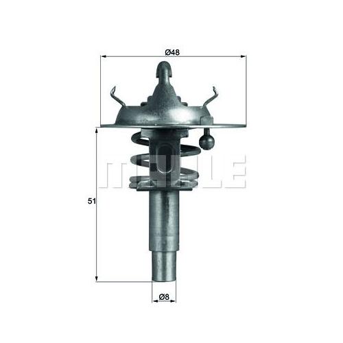 BEHR THERMOT-TRONIK Thermostat, Kühlmittel TX 106 90D