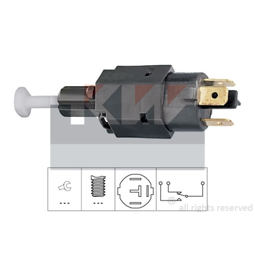 Brake Light Switch KW 510 082 Made in Italy - OE Equivalent OPEL GENERAL MOTORS