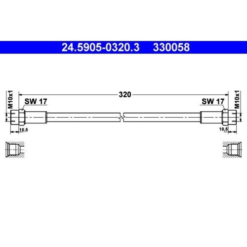 Clutch Hose ATE 24.5905-0320.3 BMW