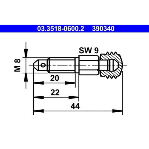 Entlüfterschraube/-ventil ATE 03.3518-0600.2 ALFA ROMEO FORD MAGIRUS-DEUTZ OPEL