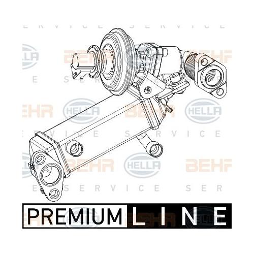 Cooler, exhaust gas recirculation HELLA 8ME 376 745-361 BMW