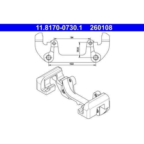 Halter, Bremssattel ATE 11.8170-0730.1 BMW