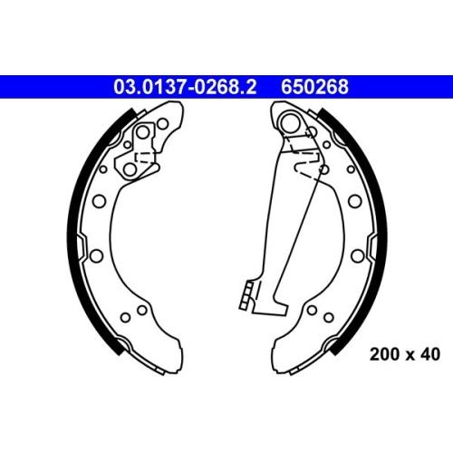 Bremsbackensatz ATE 03.0137-0268.2 SEAT SKODA VAG