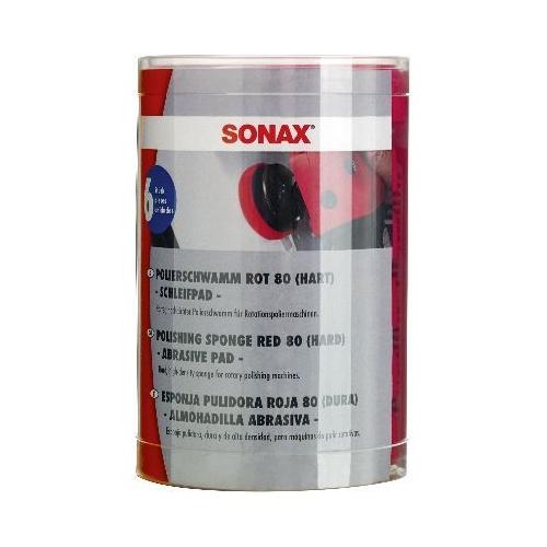 Aufsatz, Poliermaschine SONAX 04937000 SchaumPad hart 80 -Six-Pack-