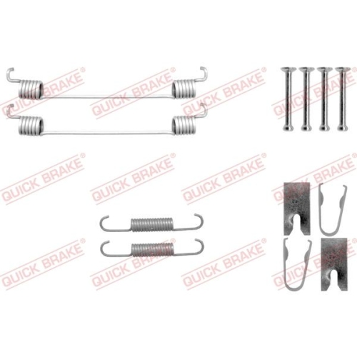 Accessory Kit, brake shoes QUICK BRAKE 105-0042