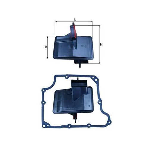 Hydraulic Filter, automatic transmission MAHLE HX 166D GMC OPEL VAUXHALL