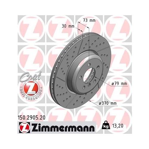 ZIMMERMANN Brake Disc 150.2905.20