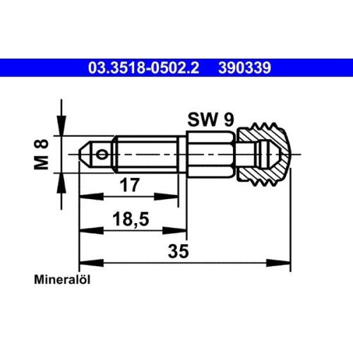 Entlüfterschraube/-ventil ATE 03.3518-0502.2