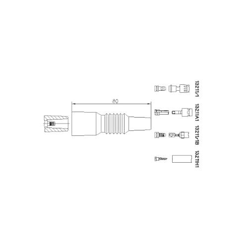Stecker, Zündspule BREMI 13211/1 BMW