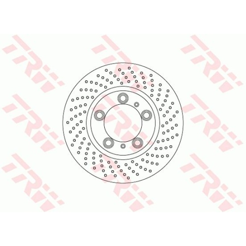Brake Disc TRW DF6779S PORSCHE